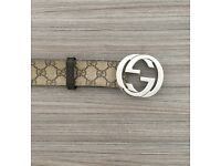Gucci Men's Belt – GG Supreme/G Buckle