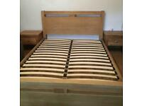 Solid Oak king size bed frame, from Cargo, can deliver!!