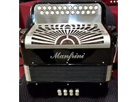Manfrini Bosca Ceoil - B/C Melodeon Diatonic - 3 Voice - Hand Made Reeds