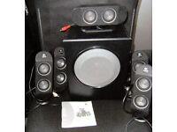 Surround Sound Speaker System Logitech X-530 5.1 PC