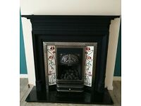 CastTec gas fire and cast-iron surround