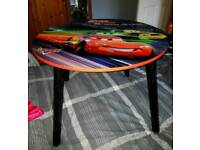 Kids lightening McQueen table and chair