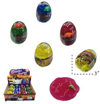 Novelties Toys (2 ASSORTED 3 INCH DINOSAUR EGG W DINO INSIDE & GOOEY SLIME novelty play toy)