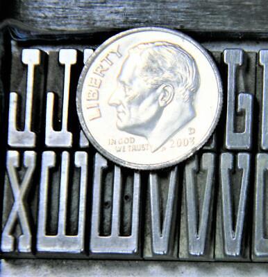 Alphabets Metal Letterpress Printing Type 36pt Newport Monograms  Mn49 3