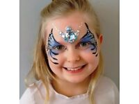 Face painter. For face painting, glitter tattoos, gem clusters and baby bump/ belly painting,