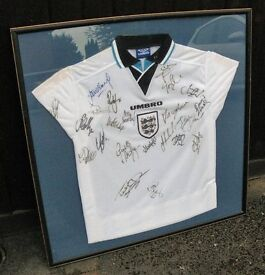 Signed Englad Football Shirt