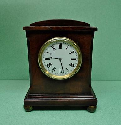 ANTIQUE MAHOGANY CASED PETITE POCKET WATCH MANTLE CLOCK