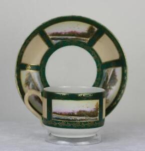 Antique Russian Soviet Porcelain Art Deco Tea Cup by Proletariy fact 1927 #2