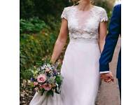 REDUCED FOR QUICK SALE! Unique Ivy & Aster wedding dress Rose Garden size 10-12