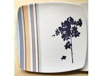Set of 12 beautiful hard plastic reusable square plates