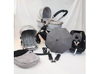 Icandy Peach 3 RARE 'Silver Mint' Full Travel System Inc Maxi Cosi Car Seat & Extra's Worth ££££