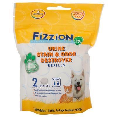 Fizzion URINE DESTROYER Pet Stain & Odor Remover Dog Cat Urine (2 Tablet Bag)