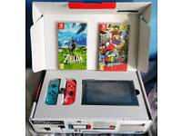 Nintendo Switch Console with Games and Accessories