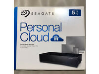 Seagate Personal Cloud 5 TB Home Media Storage, NAS - Black - *BRAND NEW*