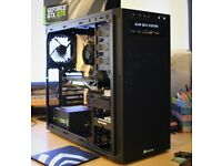 Gaming PC i7-6700, Z170 wi-fi, GTX1070 FE, 16GB RAM, 120GB SSD, 1TB HDD, Corsair PSU and case