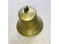 LARGE BRASS BELL suitable for DOOR/BOAT/PUB
