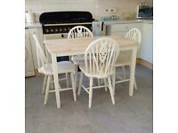 FARMHOUSE KITCHEN TABLE AND 4 CHAIRS