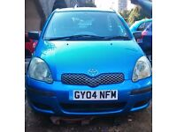 Toyota Yaris, Blue Colour, 2004 year, 3 door petrol Quick SALE