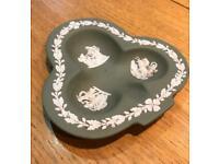 Wedgwood Jasperware Sage Green Clover Trinket Tray