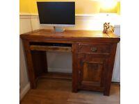 SOLD Rustic Dark Oak Computer Desk £60