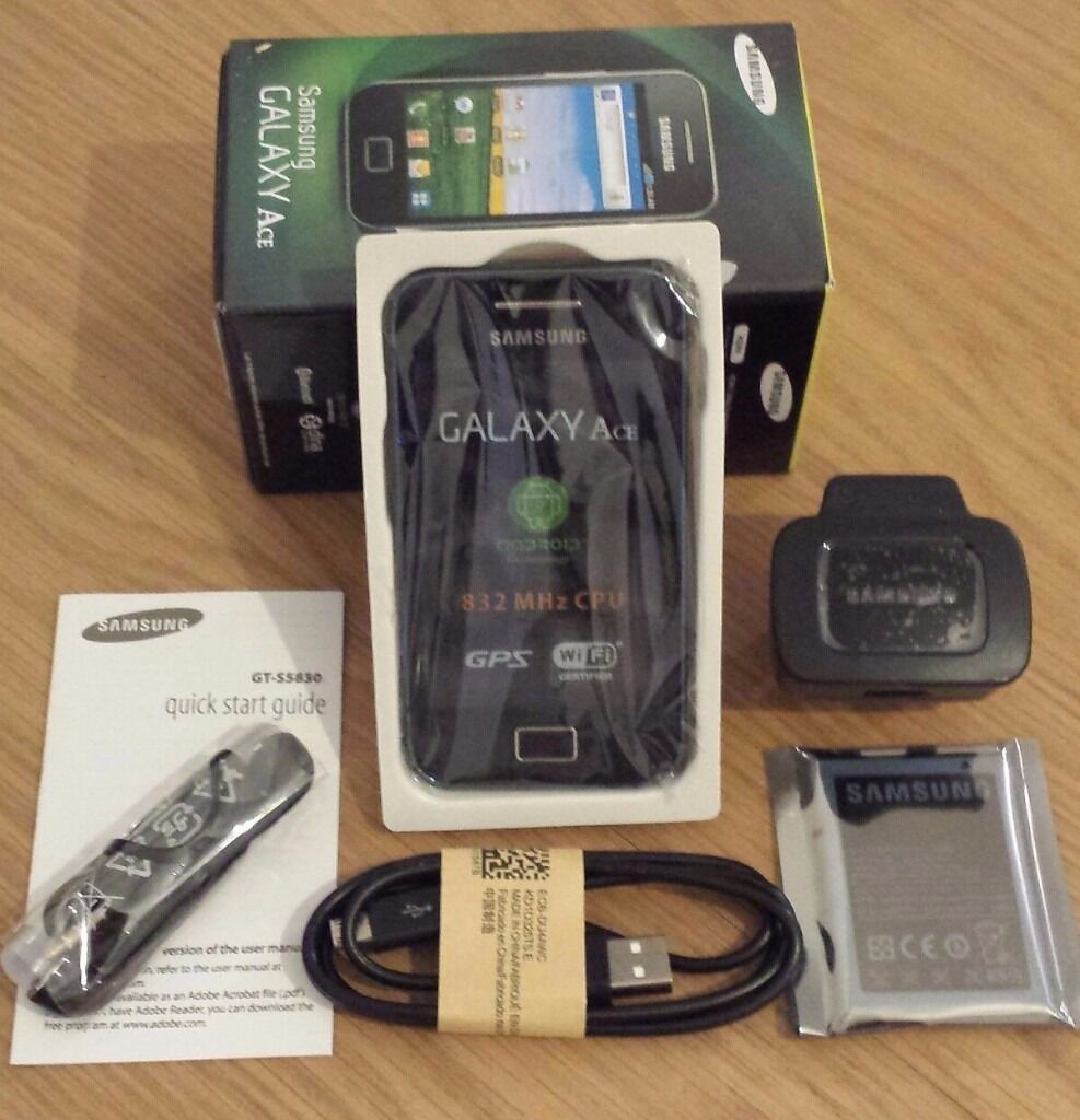 Samsung Galaxy Ace GT S5830i Sim Free Unlocked Black Android Smartphonein Wavertree, MerseysideGumtree - Samsung Galaxy Ace GT S5830i Sim Free Unlocked Black Android Smartphone Comes with its standard factory sealed accessories. Headphone USB Cable, Manuals) And box used but like new £49.99 07562623838