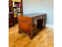 Antique desk and filing cabinet