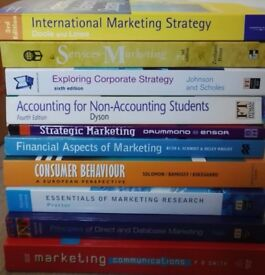 £5 EACH - Marketing/Business/Accounting Text Books