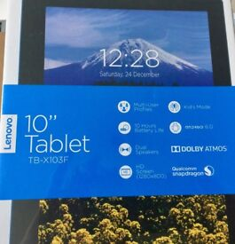 """Tablet : LENOVO 10"""" TB-X103F - BRAND NEW, IN CELLOPHANE, UNOPED, BLACK WITH DOLBY ATMOS SPEAKERS"""