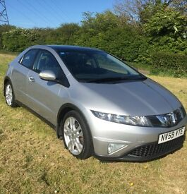 2009(59) Honda Civic Es I-VTEC 1799cc 5 door Hatchback with Panoramic roof with only 42000 miles