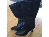 Real Leather Boots - Size 8 / 42 - As New