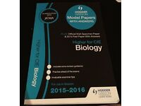 New Higher biology 2015-2016 past papers with answers