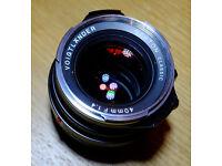 Voigtlander 40mm f1.4 Nokton Classic lens in Leica M Bayonet fit - mint condition