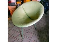 Retro vintage 1950' sofa chair mint green
