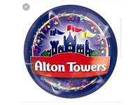 Alton Towers tickets x 2 7/8/18 (school holidays)