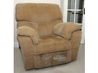 Two electric recliner armchairs