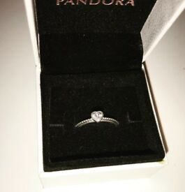 Pandora Delicate Heart Ring Size 54
