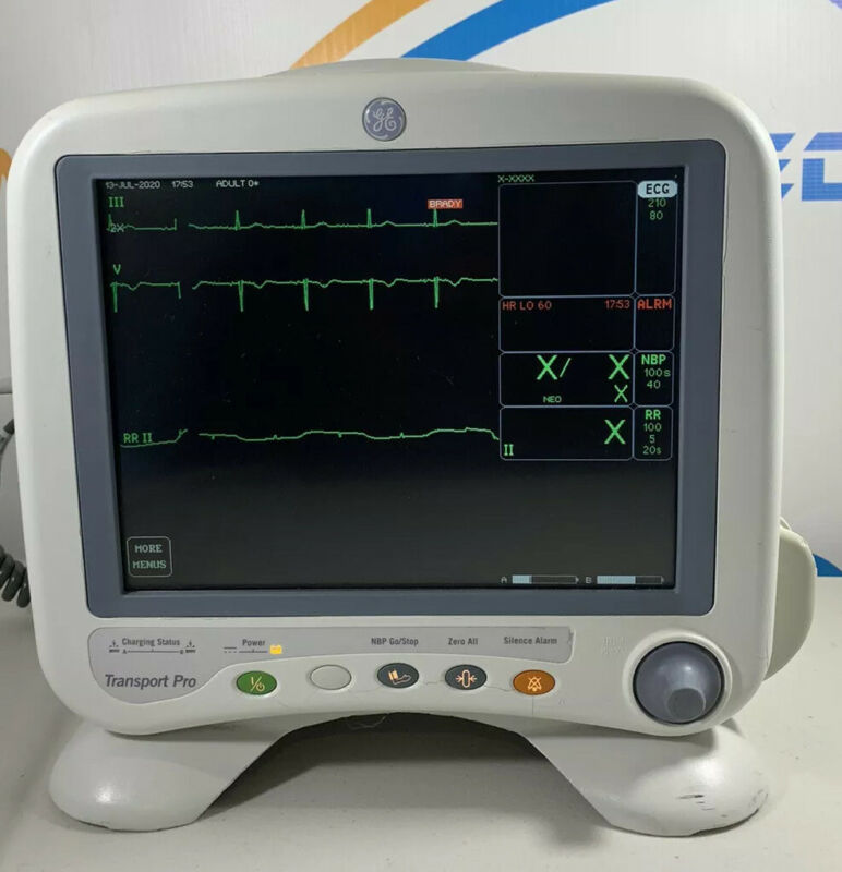 GE TRANSPORT PRO Patient Monitor With Charger