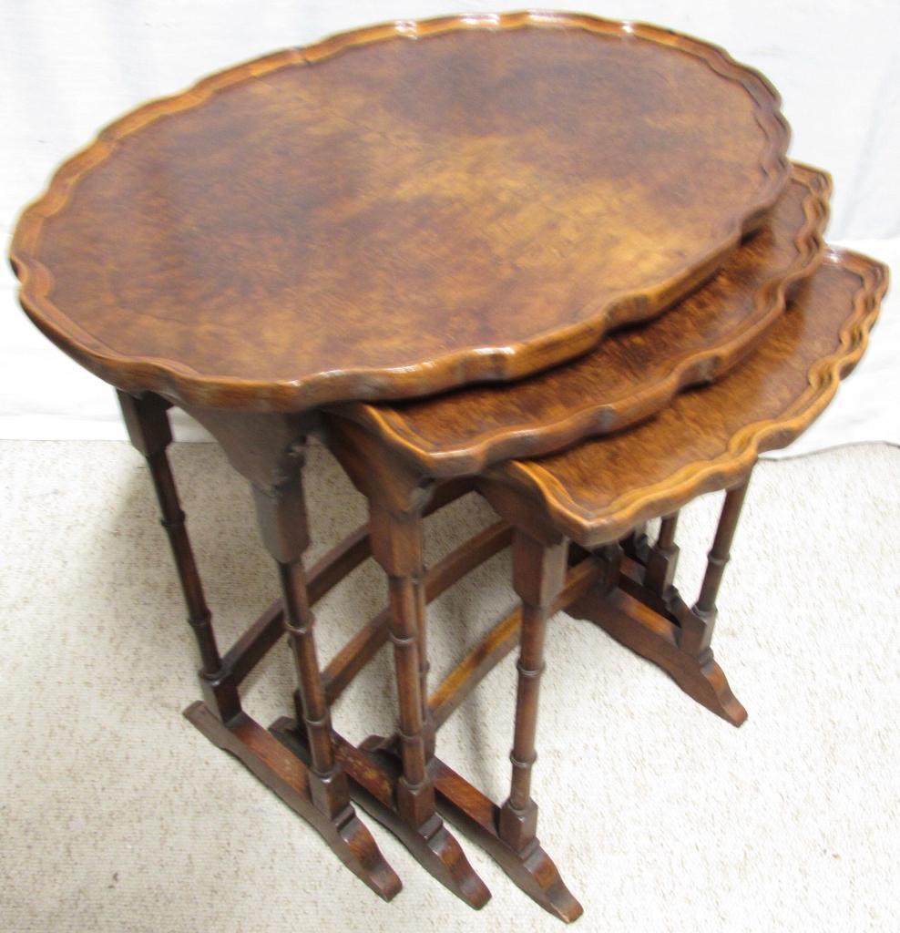 Burr Walnut Nest of Tables circa 1920