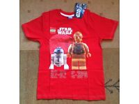 Star Wars Lego t-shirt, top, brand new with tags, aged from 7 years (140 cms) - Belfast/Larne, £4