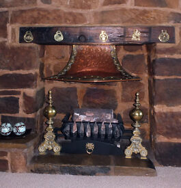 Copper and Brass Inglenook Style Canopy