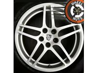 "2x 18"" Genuine Porsche Macan 3.0S front alloys with Michelin Latitude tyres."