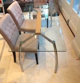 John Lewis Albatross glass table seats 6