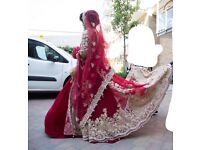 Red Wedding Dress UK Size 8-10 - Indian/Asian - From Zarkan of London