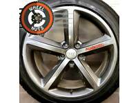 "18"" Genuine Audi TT, A6, S Line 5 spoke alloys refurb Anthracite good tyres."