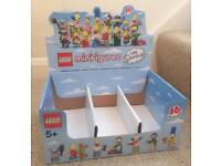 Job lot of 48 empty Lego Minifigure cases / boxes. Various series, as listed below. Collectible