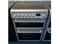 Grey Hotpoint 60cm Ceramic Cooker - 12 Months Warranty - £190