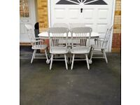 EXTENDING DINING TABLE AND 6 CHAIRS DELIVERY AVAILABLE