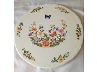 "Aynsley 11"" gateau/cake plate in Cottage Garden design"