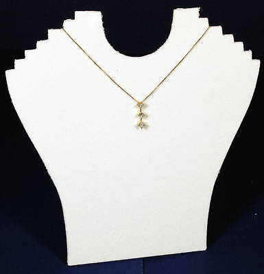 1 White 9 Velvet Necklace Pendant Jewelry Displays