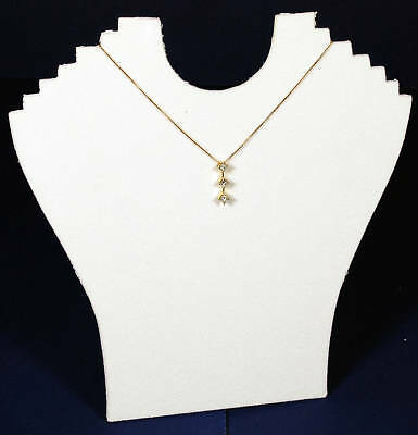 1 White 9 Velvet Necklace Pendant Jewelry Displays